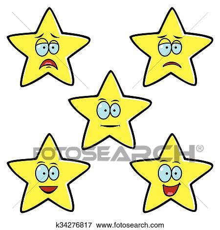 النجوم إرتياح أمين ايقونة Clip Art K34276817 Fotosearch