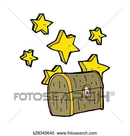 海賊 宝物 箱 漫画 イラスト K28340645 Fotosearch