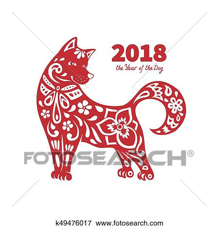 clip art 2018 year of the dog fotosearch search clipart illustration posters