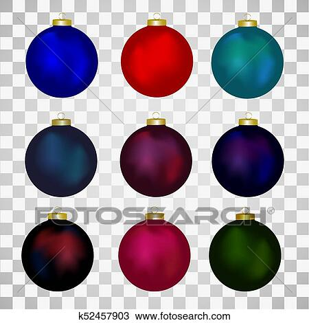 Colorful Christmas Balls.Colorful Christmas Balls Set Of Isolated Realistic Decorations Vector Illustration Clipart