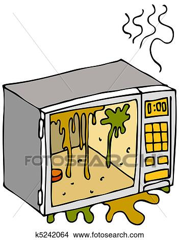 clipart of dirty microwave oven k5242064 search clip art rh fotosearch com microwave clip art free microwave oven clipart free