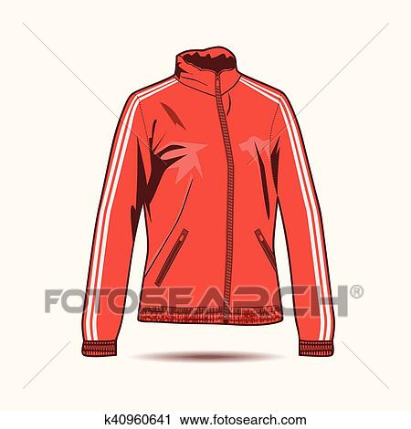 Clipart Of Woman Jacket K40960641 Search Clip Art Illustration