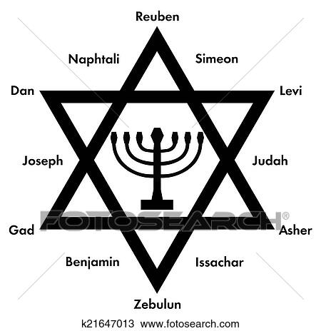 Stock Photo Of 12 Tribes Of Israel K21647013 Search Stock Images