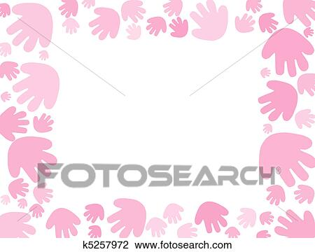 Baby Pink Handprint Background Stock Image K5257972