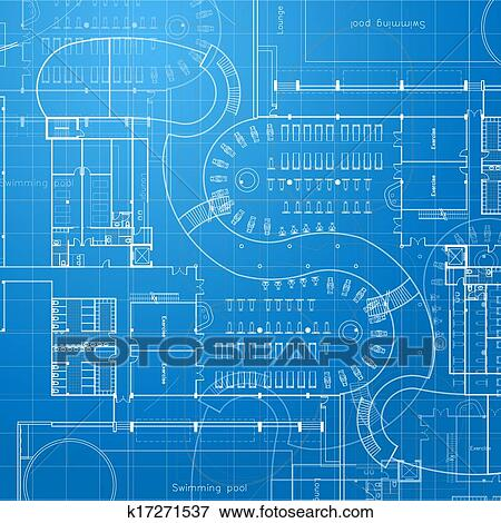 Stock illustration of blueprint architectural background k17271537 urban blueprint architectural background part of architectural project architectural plan technical project drawing technical letters design on paper malvernweather Gallery