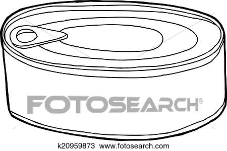 clipart of canned food k20959873 search clip art illustration rh fotosearch com Canned Food Art Canned- Food