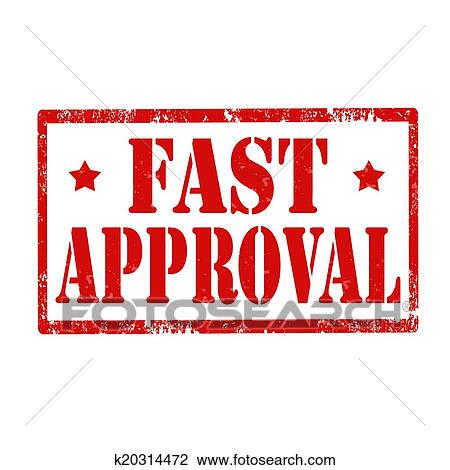 clipart of fast approval stamp k20314472 search clip art