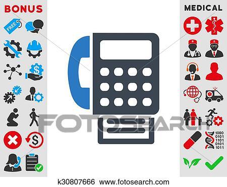 fax icon clip art k30807666 fotosearch fotosearch