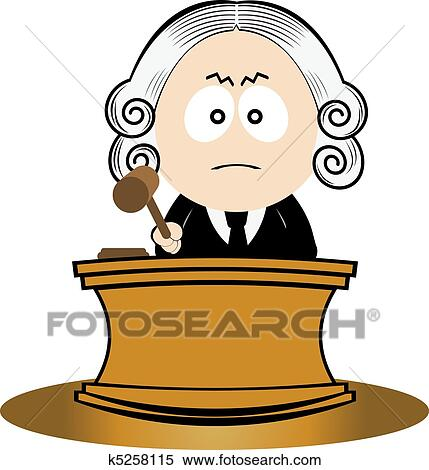 Clip Art Judge Clipart clipart of judge k6211702 search clip art illustration murals using his gavel