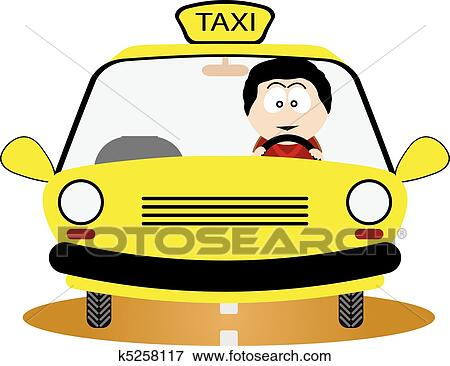 clip art of taxi driver k5258117 search clipart illustration rh fotosearch com taxi driver clipart taxi driver clipart