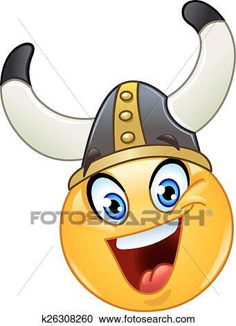 Clipart Of Viking Emoticon K26308260 Search Clip Art Illustration