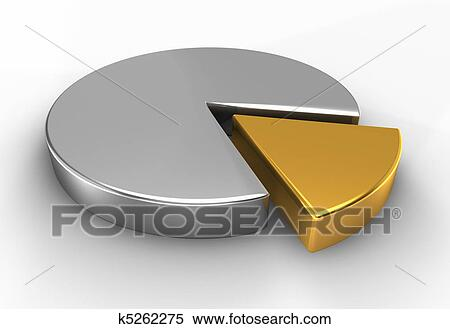 Stock Illustration Of 3d Silver Pie Chart K5262275 Search Clipart