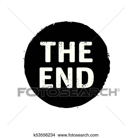 Black Stamp With Text The End Vector Illustration