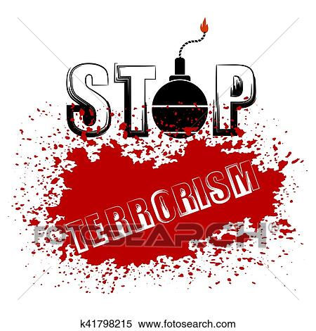 Clipart Bombe clipart of bomb icon. stop terrorism banner. k41798215 - search clip