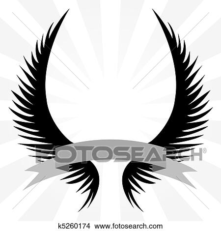 clipart of gothic wings crest k5260174 search clip art rh fotosearch com gothic cross clipart free gothic clipart