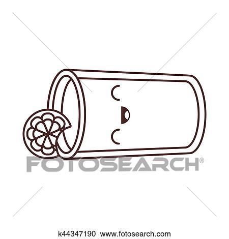 Kawaii glass cup juice lemonade fresh Clipart