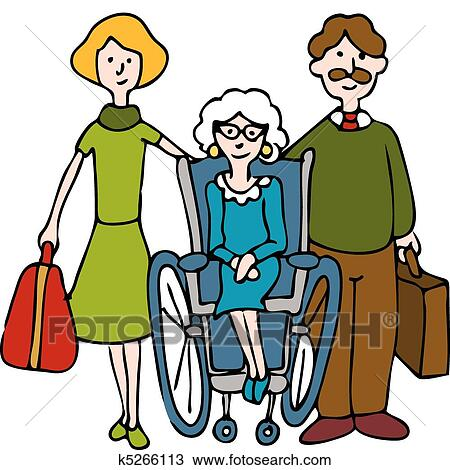 Moving Senior To Nursing Home Clipart K5266113 Fotosearch