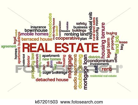 Real Estate Word Tag Cloud Clipart