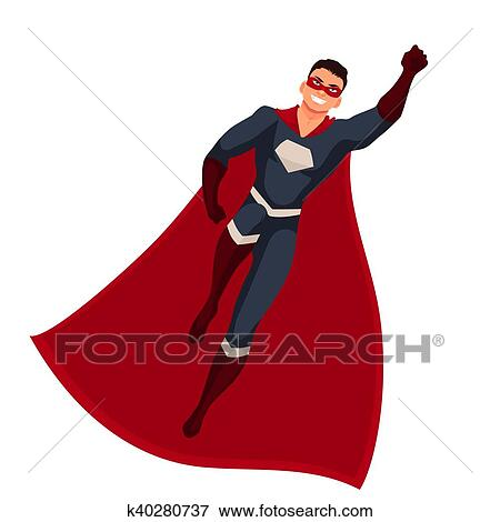 baskets regarder offres exclusives Superhero man in cape and usual clothes Stock Illustration