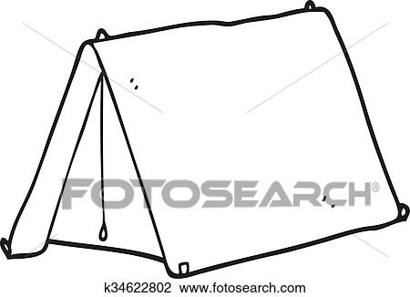 Camping Tent Black And White Cliparts - Tent Clipart Black And White - Free  Transparent PNG Clipart Images Download