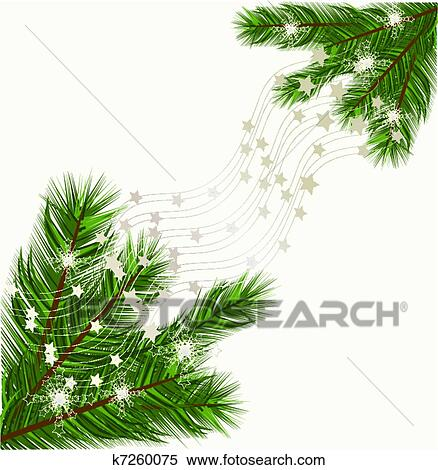 Christmas Trees Background Clipart.Christmas Tree Branches Vector Background Clipart