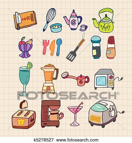 Clip Art Kuche Gerate Symbol K5278527 Suche Clipart Poster