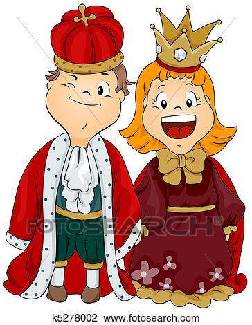 clip art of king and queen k5278002 search clipart illustration rh fotosearch com homecoming king and queen clipart black king and queen clipart