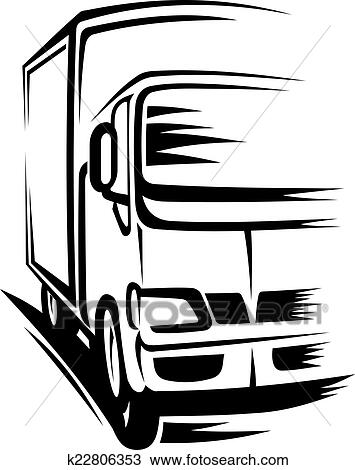 clipart of moving truck k22806353 search clip art illustration rh fotosearch com moving truck clip art free and printable moving truck clipart vector