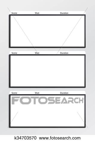 Banque DIllustrations  Pellicule Storyboard Gabarit Vertical