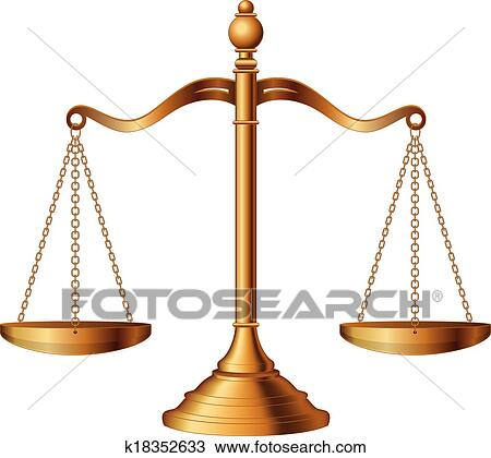 clipart of scales of justice k18352633 search clip art rh fotosearch com justice scales clipart lady justice scales clipart