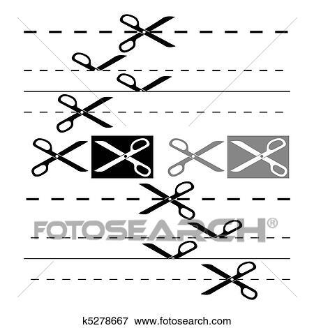 clip art of scissors template for design eps 8 k5278667 search