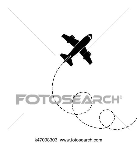 Silhouette Of Aircraft Clipart K47098303 Fotosearch