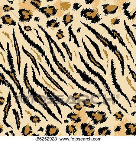 Tiger Leopard Texture Seamless Animal Pattern Striped