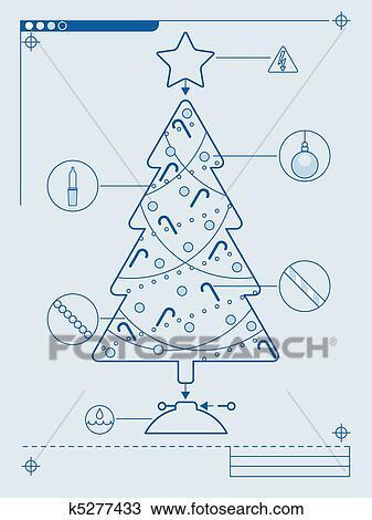 Tannenbaum Diagramm.Weihnachtsbaum Diagramm Clipart