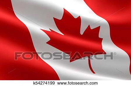 Stock Illustration Of Canada Flag K54274199 Search Vector Clipart