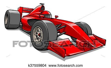 childs rigolote dessin anim formule voiture course illustration - Voiture De Course Dessin Anim