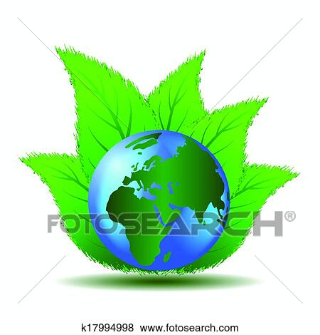 Clip Art Of Clean Green World K17994998 Search Clipart