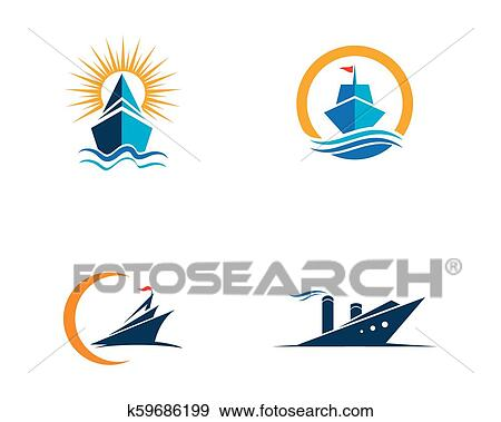Cruise Ship Logo Template Vector Icon Clip Art K59686199 Fotosearch