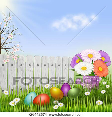 drawing easter background egg hunt fotosearch search clip art illustrations wall posters