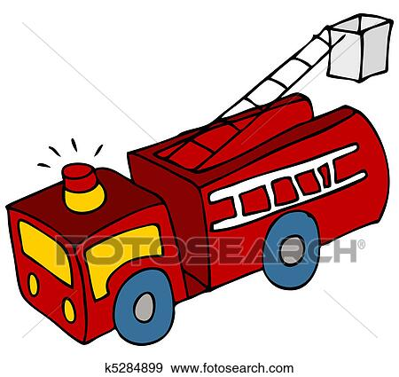 clip art of fire truck k5284899 search clipart illustration