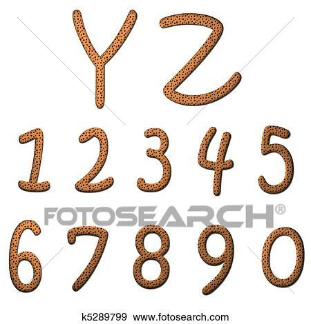 Colección de ilustraciones - galletas, alfabeto k5289799 - Buscar ...