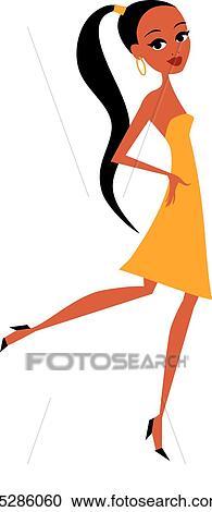 Clipart Jolie Fille Dessin Anime K5286060 Recherchez Des Clip