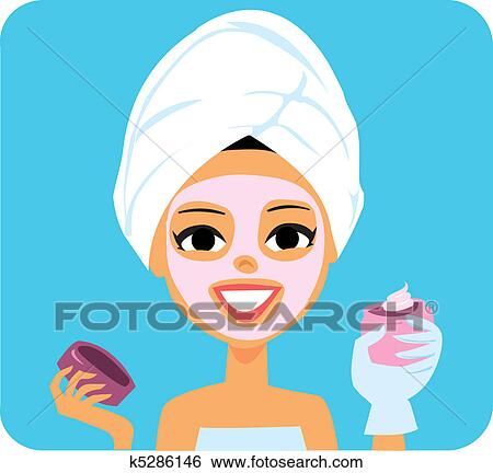 clip art of spa girl k5286146 search clipart illustration posters rh fotosearch com spa clipart images spa clipart graphics
