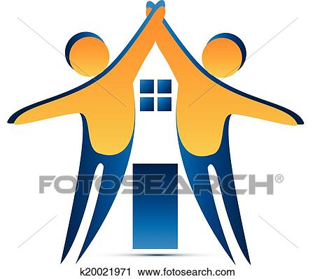 clipart of teamwork house shape logo k20021971 search clip art rh fotosearch com teamwork clip art funny teamwork clipart graphics