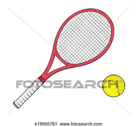 Clipart Of Tennis Racket K19555781 Search Clip Art Illustration