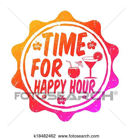 clipart of time for happy hour stamp k18482462 search clip art rh fotosearch com happy hour photos clip art happy hour photos clip art