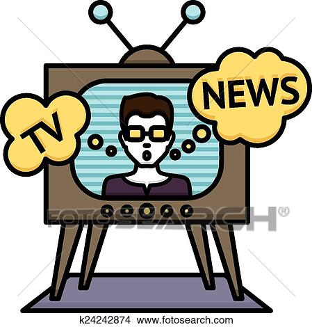 Clipart Of Tv News Poster K24242874