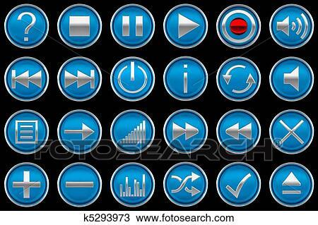 Dibujo apretado azul panel de control botones for Affittare una cabina grande orso