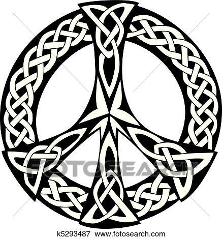 Celta Desenho Simbolo Paz Clipart K5293487 Fotosearch
