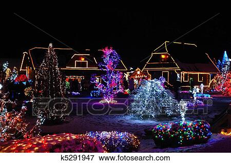 Picture of Christmas lights k5291947 - Search Stock Photography ...